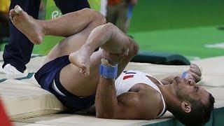 Olympic Games Rio 2016 -Brutal moment French gymnast's horrific leg break chills gymnastics arena